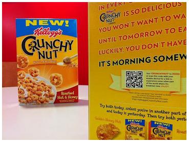 Empaque de cereales con un Código QR incorporado
