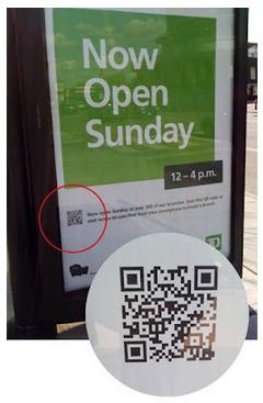 QR en la parada de autobus